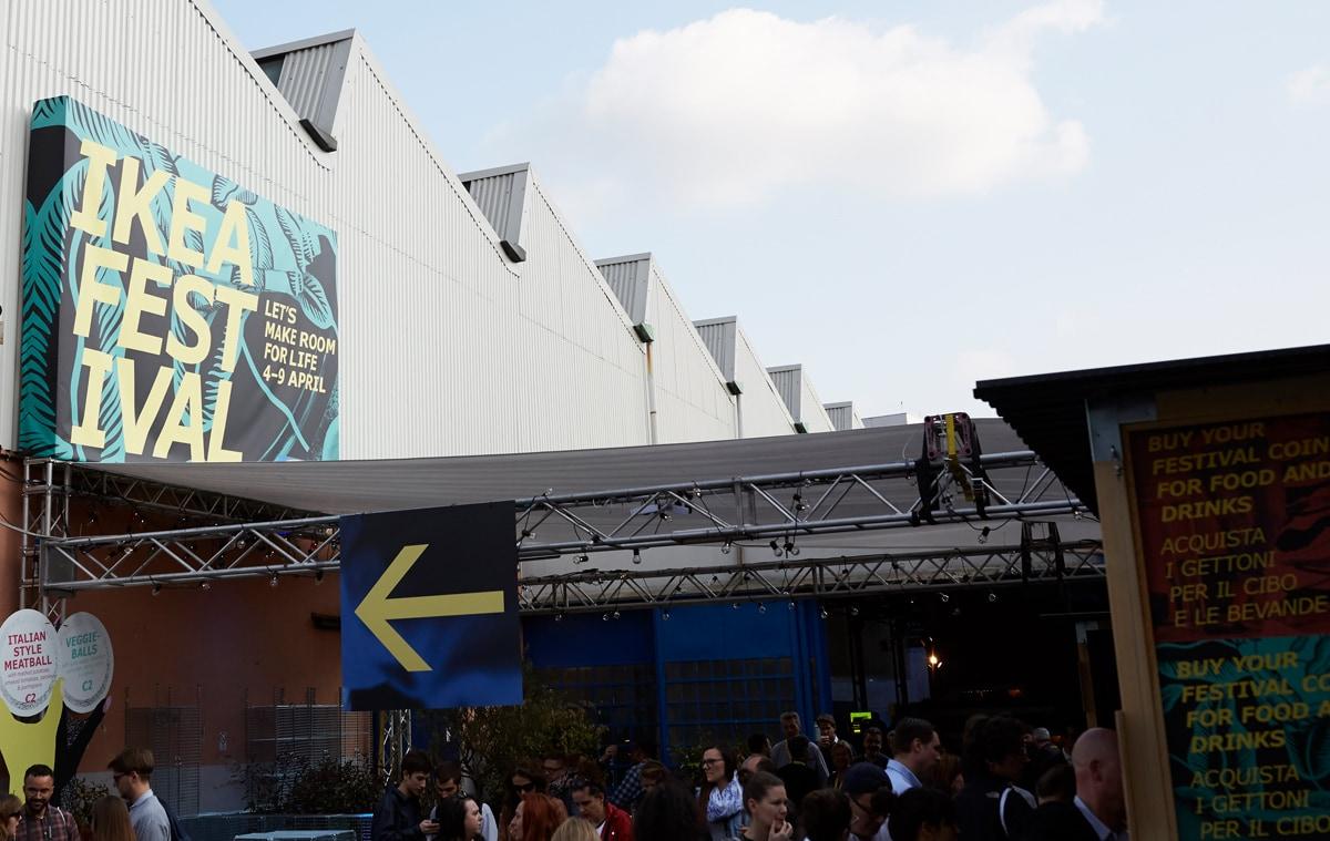 Eingang zum IKEA Festival in Mailand