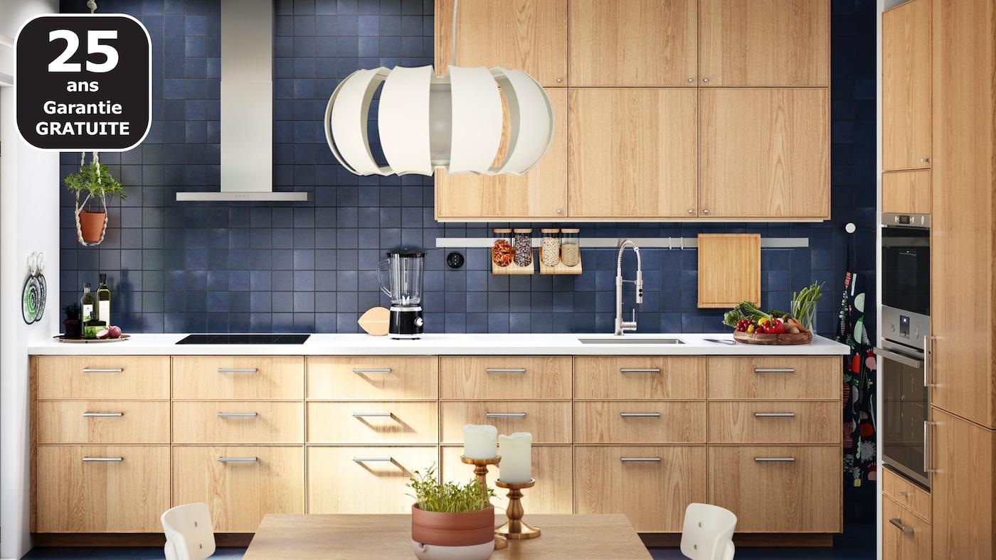 EKESTAD cuisine en bois de chêne IKEA