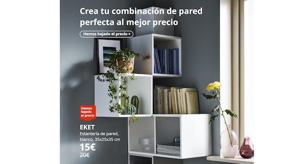 EKET Estantería de pared, blanco, 35x25x35 cm