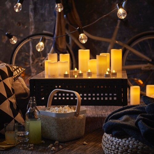 Electric candles for a cosy movie night