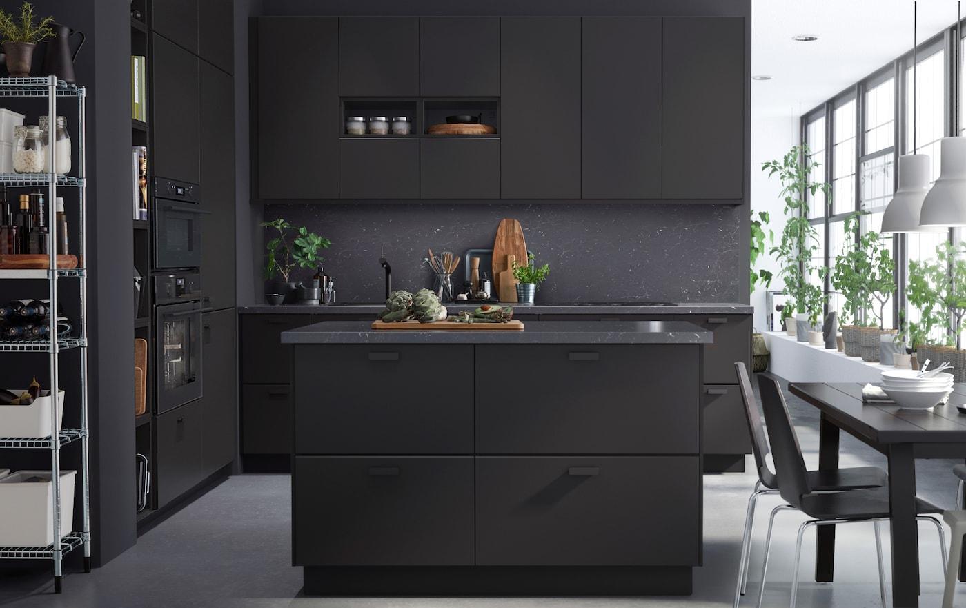 Elegante küche nachhaltig gestaltet ikea