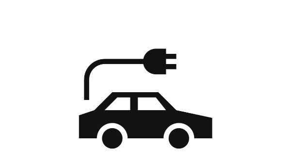 Elektromos autótöltő ikonja