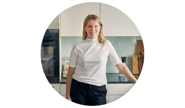Ellen Berner, 29, lives with her partner in a 3.5-room flat in the Zurich suburb of Schlieren.