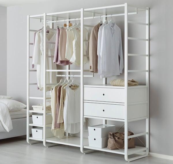 ELVARLI 3 sections, blanc, 80 3/4x21 3/4x85