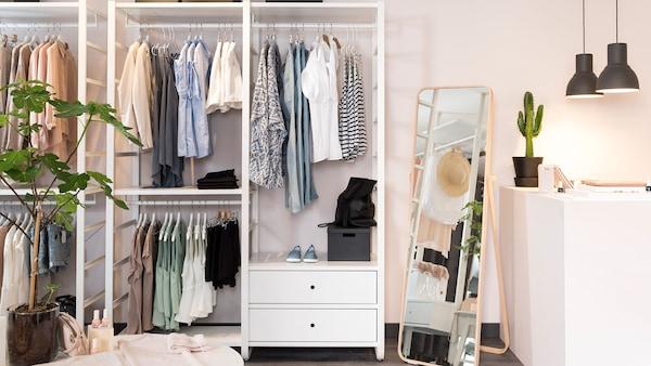 ELVARLI multi-storage closet solution.