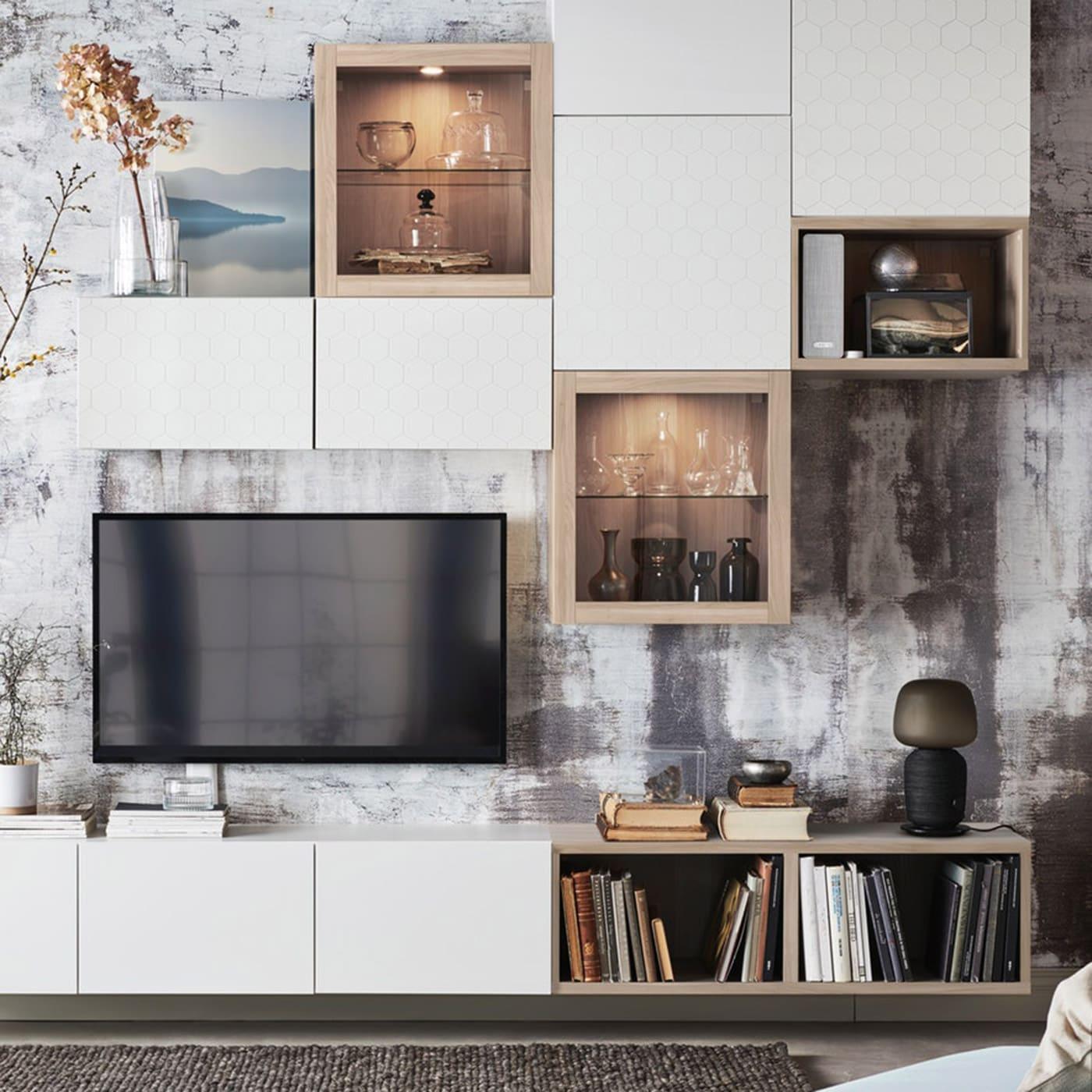 Picture of: Besta Opbevaring Til Stuen Ikea