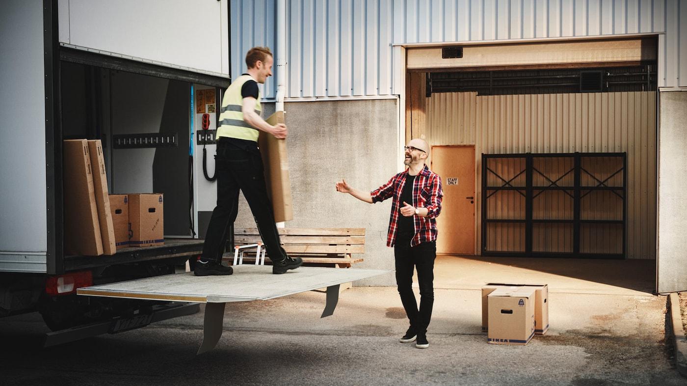 En leverans från IKEA.