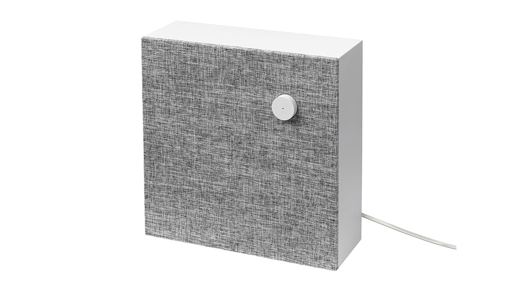 ENEBY Bluetooth speaker wall mounted against a white background.