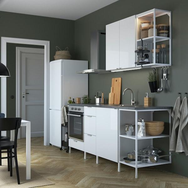 ENHET Küche - Küchenschränke in weiß