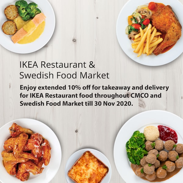 Enjoy 10% off your favourite IKEA food