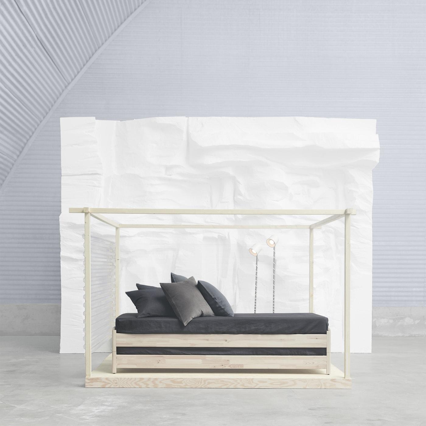 ut ker bett stapelbar ikea. Black Bedroom Furniture Sets. Home Design Ideas