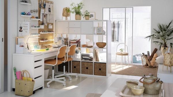 Meuble de bureau mobilier de bureau et rangement ikea - Idee deco bureau ...