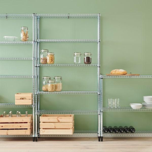 Estantes metálicos para cociña e despensa OMAR