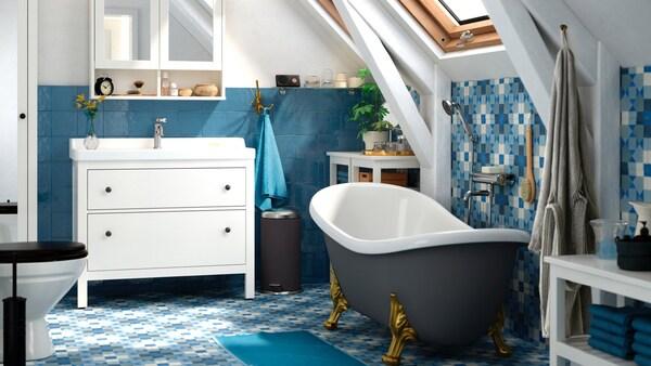 Hypermoderne Badeværelse med plads til alle – Find inspiration her - IKEA KM-22