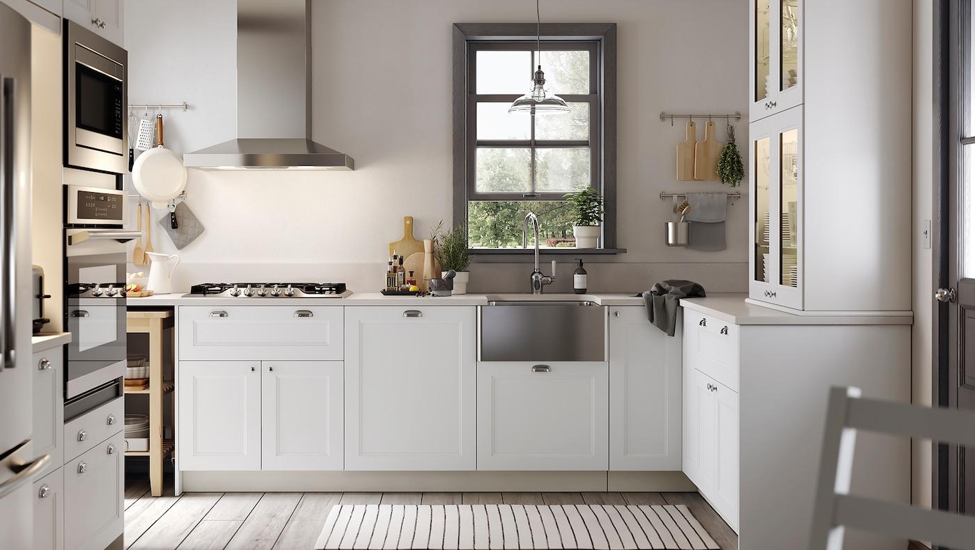 Picture of: Moderne Og Traditionelt Axstad Kokken I Mat Hvid Ikea