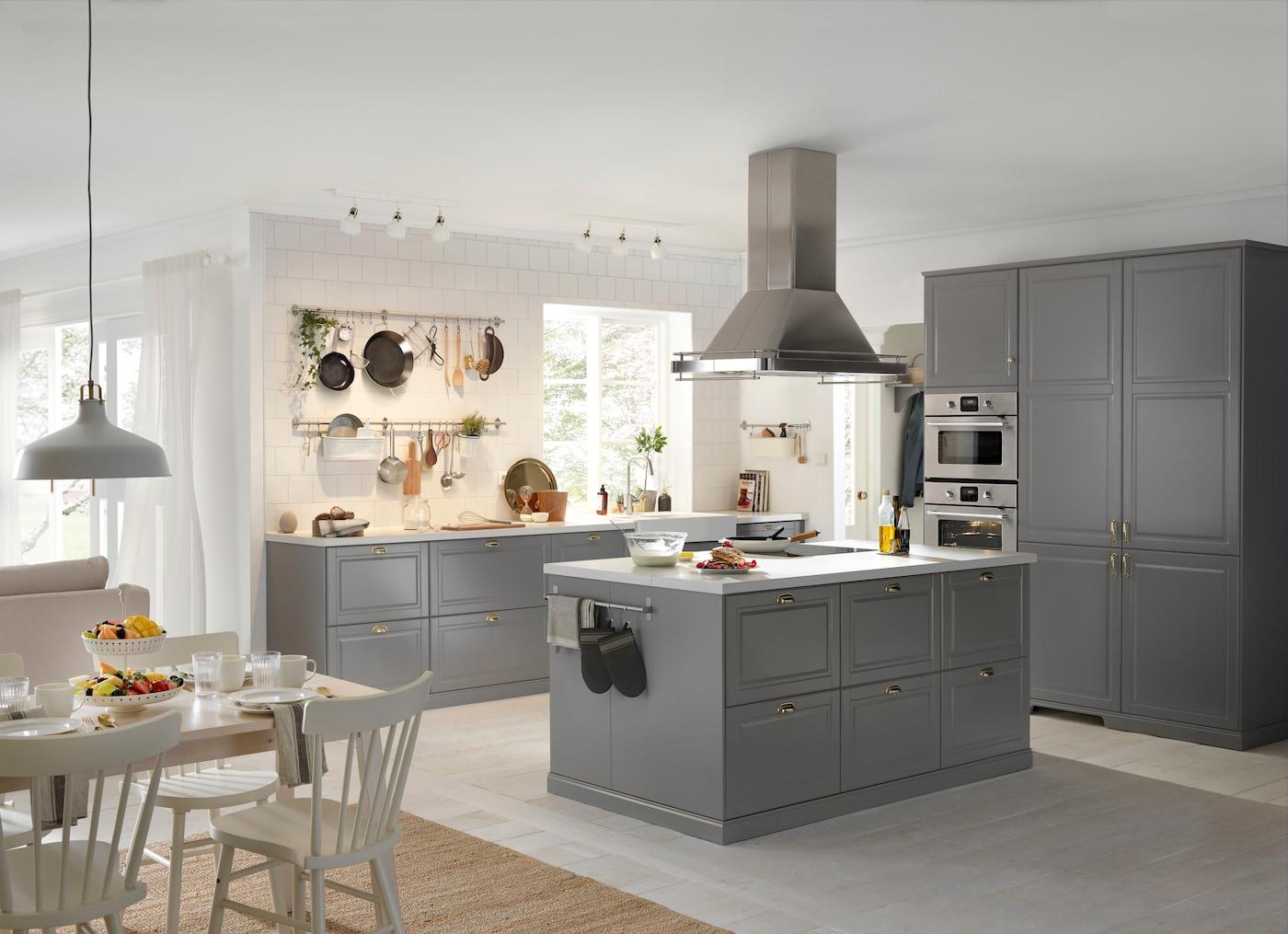 ikea køkken grå
