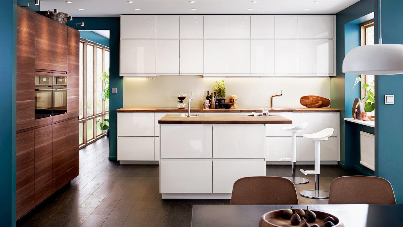 Kök - VOXTORP högglans vit - Köksserie i modern stil - IKEA