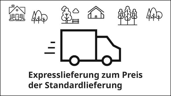 Expresslieferung zum Preis der Standardlieferung