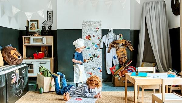Criar um espaço de brincadeira para as crianças