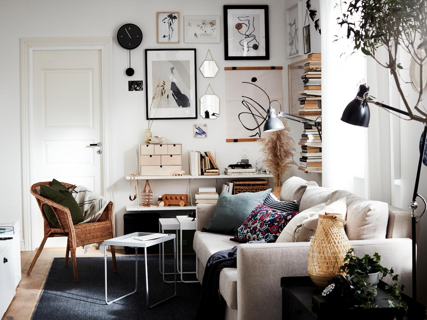 små vardagsrum inspiration
