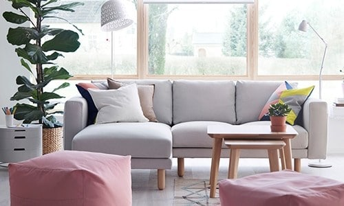 Family-friendly living room seating - NORSBORG planner