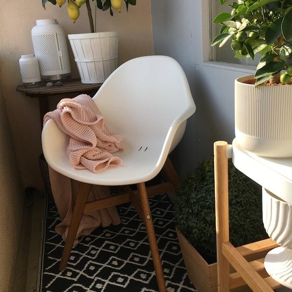 FANBYN sedia con braccioli, da interno/esterno
