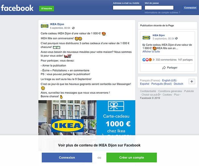 IKEA informe : alerte fraude IKEA