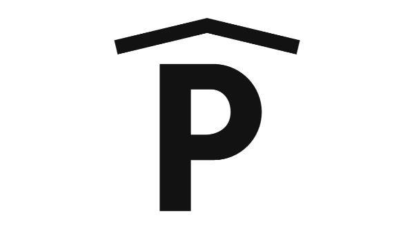 Fedett parkoló ikonja