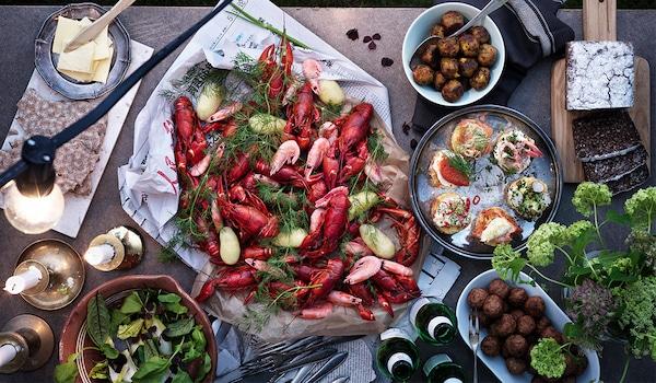 Festessen Schwedisches Krebsfest
