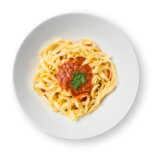 Fettuccini con salsa boloñesa