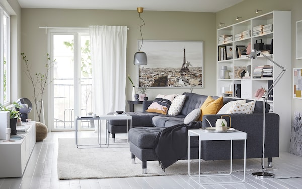 An airy living room for the whole family - IKEA