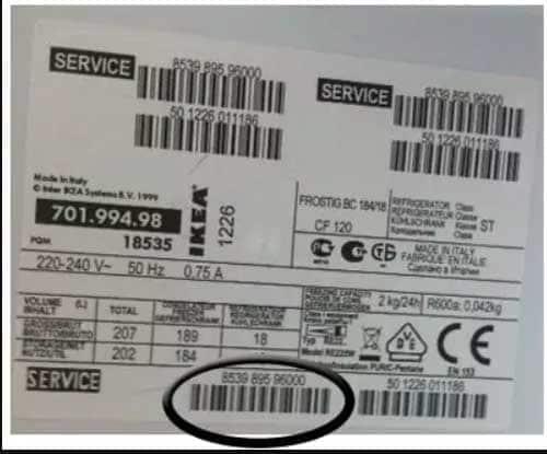 fiche-signalétique-appareil-électroménager