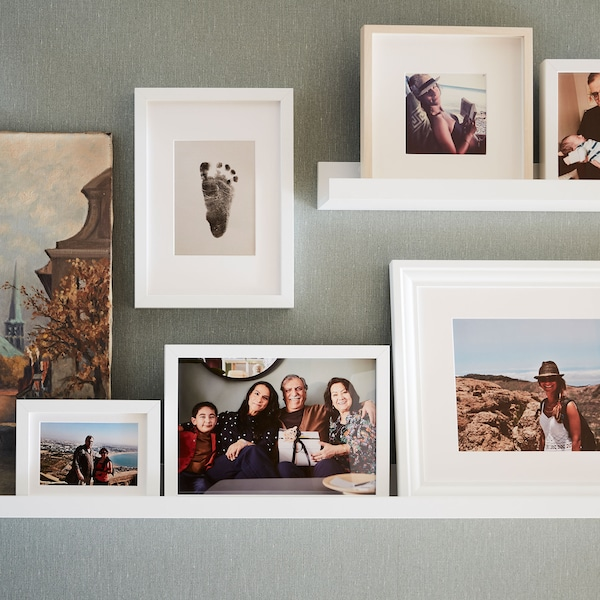 Finding the right picture frame.
