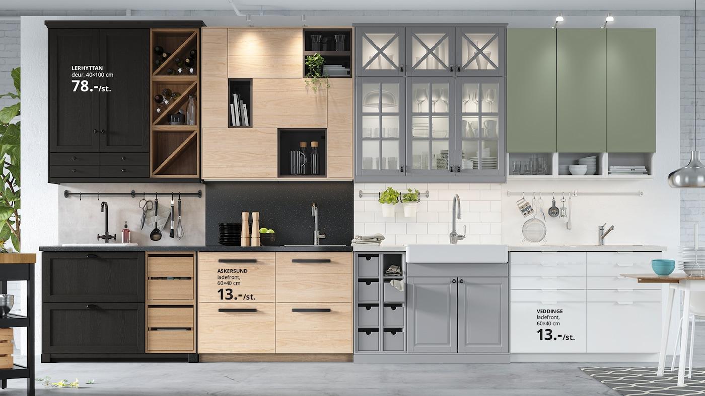 Five different IKEA kitchen styles