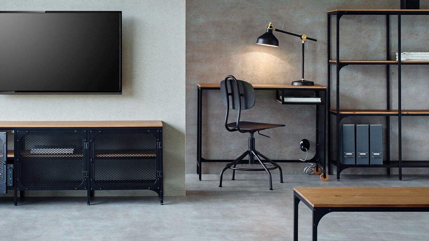 Meuble de bureau mobilier de bureau et rangement ikea