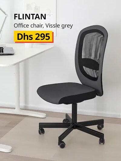flintan office chair vissle grey