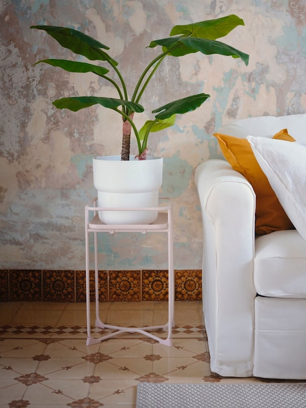 "FÖRENLIG plant pot, indoor/outdoor white 9 ½ "" (24 cm)"