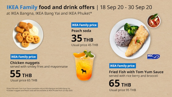 Food and drink offers for IKEA Family