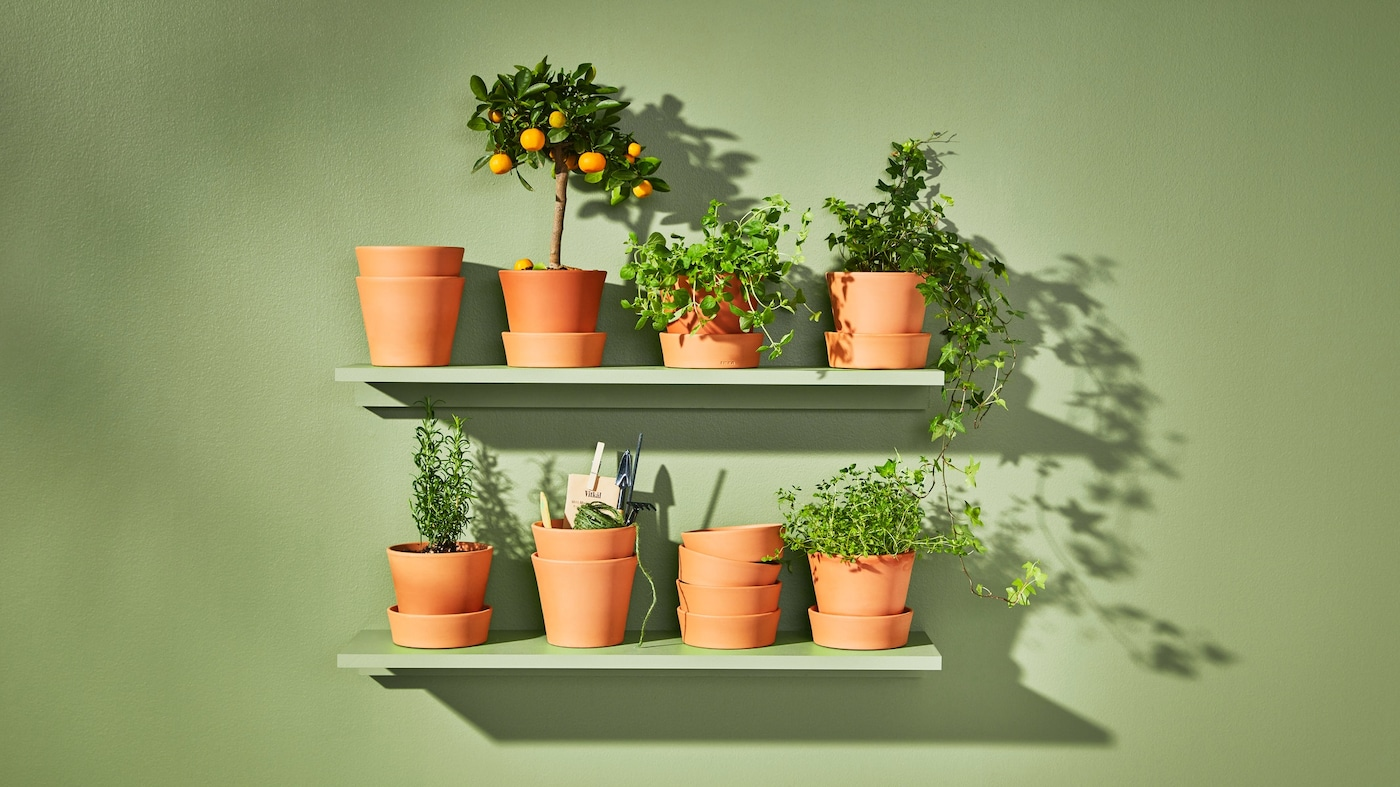 For a nature-inspired update: refresh your home with our range of pots and plants, available in a wide variety of colours, materials and textures.