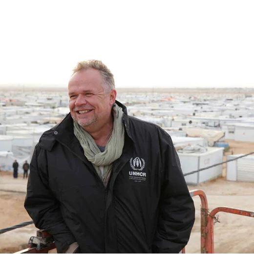 Foto Kiliana Kleinschmidta, bývalého manažera tábora pro uprchlíky a humanisty.