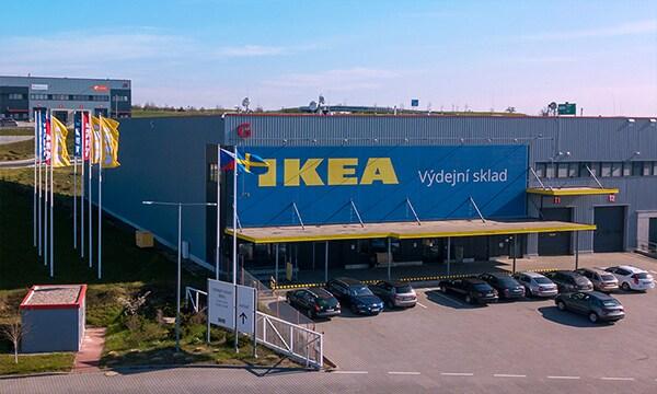 Fotografie externího sklady obchodního domu IKEA Praha – Zličín