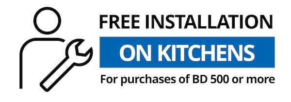 free installation on kitchens