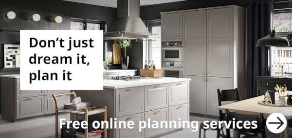 Free online planning service - Don't just dream it plan it. A tradtional Grey Bodbyn kitchen and dining room.