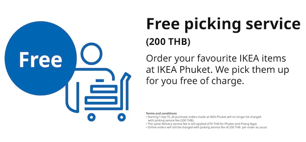 Free picking service (from 200 THB)