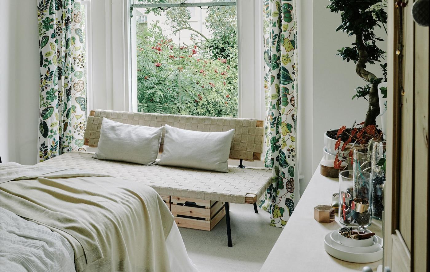 Frische Frühlingsideen für dein Schlafzimmer.