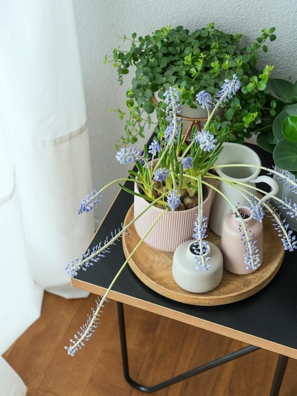 Frühlingshafte Blumen in Kombination mit verschiedenen IKEA Vasen.