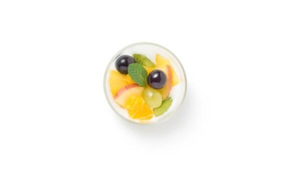Fruit salad CHF 2.50