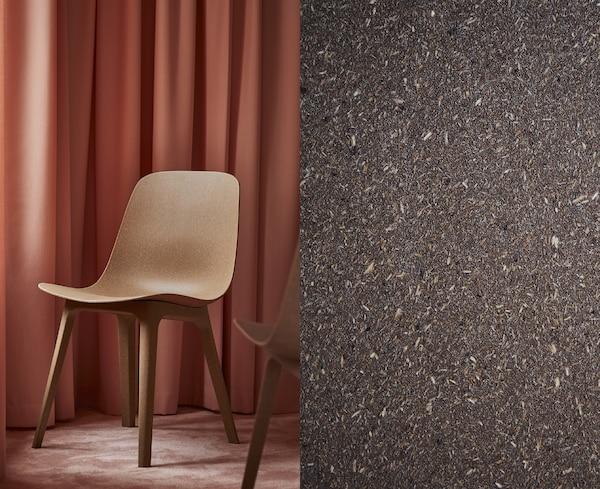 Frumusețea compozitului constă în faptul că îmbină utilizarea de material mai puțin cu potențialul de a utiliza materiale de calitate inferioară, adică deșeuri, și de a le transforma în ceva nou și minunat, cum ar fi scaunul inovator ODGER.