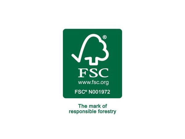 FSC, www.fsc.org, the mark of responsible forestry, logo.