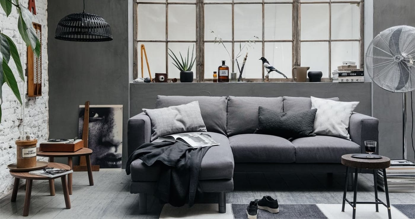 Furnishing a living room — sofa — home accessories — IKEA interior inspiration